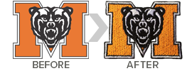 Have your logo digitized and embroidered onto custom spiritwear apparel