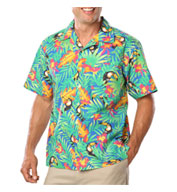 Custom New Stain Release, Tropical Print Camp Shirts