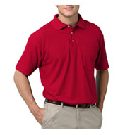 Custom Mens Teflon Treated  Pique Polo with Pocket Mens