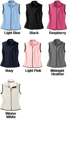 Ladies Full-Zip Fleece Vest - All Colors
