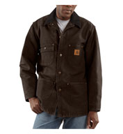 Custom Sandstone Duck Chore Coat - Blanket Lined Mens