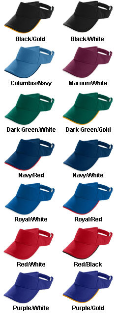 Adult Athletic 2-Color Mesh Visor - All Colors