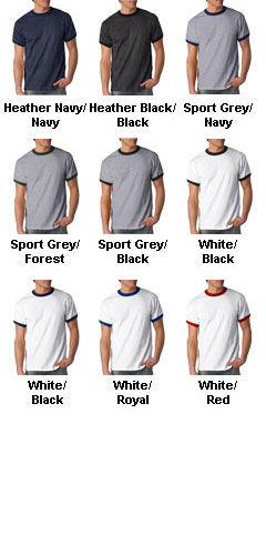 Adult Ultra Cotton Ringer T - All Colors