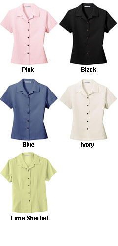 Ladies Silk Blend Camp Shirt - All Colors