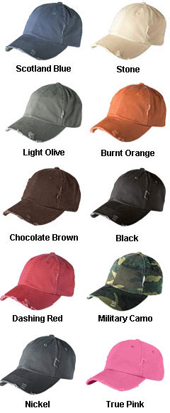Distressed Cap with Hideaway Strap - All Colors