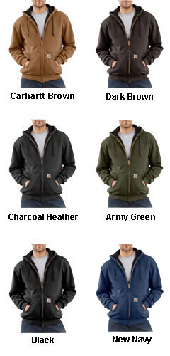 Thermal Lined Hooded Zip-Front Sweatshirt  - All Colors