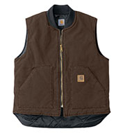 Carhartt Sandstone Vest With Arctic Quilt Lining