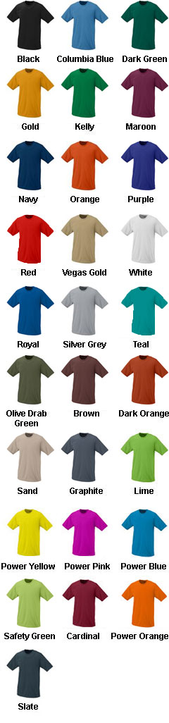 Adult Short Sleeve Moisture Wicking T-shirt - All Colors