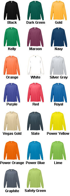 Adult Long Sleeve Moisture Wicking T-shirt - All Colors