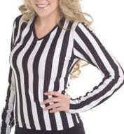 Custom Juniors V-Neck Long Sleeve Ref Shirt