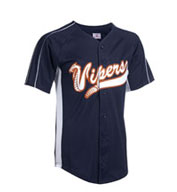 Custom Youth Diamond-Core Full Button Baseball Jersey with Mesh Side Inserts