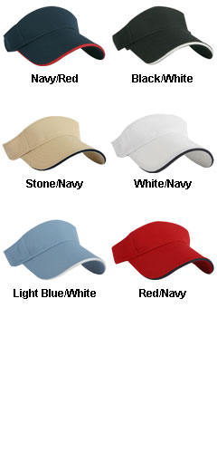 Nu-Fit Pique Mesh Spandex Fitted Visor - All Colors