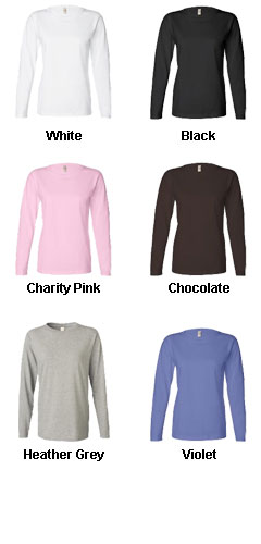 Anvil Ladies Heavyweight Long-Sleeve Tee - All Colors