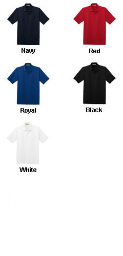 Mens Poly-Bamboo Charcoal Blend PiqueSport Shirt - All Colors