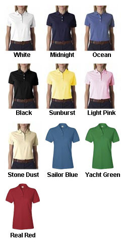 Izod Ladies Classic Silk-Washed Pique Polo - All Colors