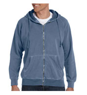 100% Garment-Dyed Full-Zip Hood