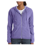 Custom Garment-Dyed Ladies Full-Zip Hood