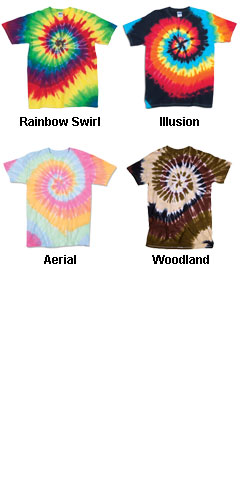 Adult Rainbow Swirl Tie Dye T-shirt - All Colors