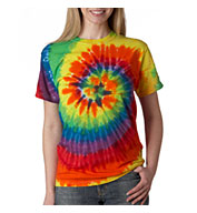 Custom Adult Rainbow Swirl Tie Dye T-shirt