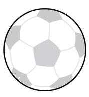 Soccer Ball SportsShape Colorplast Sign