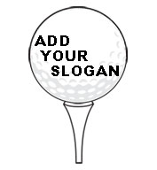 Golf Ball Tee SportsShape Colorplast Sign