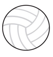 Volleyball SportsShape Colorplast Sign
