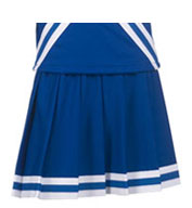 Custom Girls Pleated Skirt with Trim