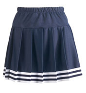 Custom Girls Five Stripe Pleated Skirt With Trim