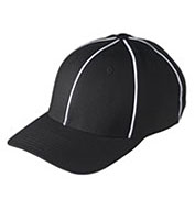 Custom Black w/ white Football Referee Caps - Size Small/Medium