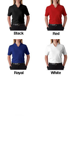 Luxurious, Smooth & Baby Soft--The Egyptian Womens Pima Solid Logo Polo - All Colors