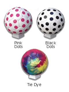 Tie Dye and Dots Soccer Balls - All Colors