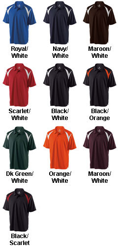 Mens Laser Coaches Polo by Holloway - All Colors