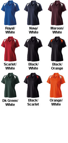 Ladies Laser Coaches Polo by Holloway - All Colors
