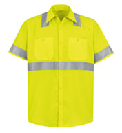 Custom Red Kap ANSI 107-2004 Class 2 Level 2 Compliant Hi-Visibility Shirt