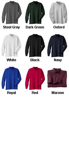 Long Sleeve Mockneck Shirts - All Colors