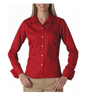 Custom UltraClub Ladies Stain Resitant Whisper Elite Twill Shirt