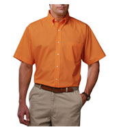 Custom Mens Short Sleeve Teflon Twill Shirt