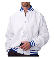 Custom Pro-Satin Baseball Jacket - Quilt Lined Mens