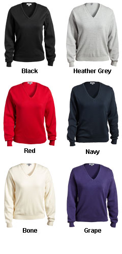 Ladies Pullover V-Neck Sweater - All Colors