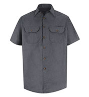 Heathered Poplin Red Kap Short Sleeve Work Shirt