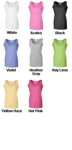 100% Heavyweight Cotton Ladies Tank Top - All Colors