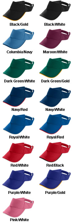 Youth Athletic 2-Color Mesh Visor - All Colors
