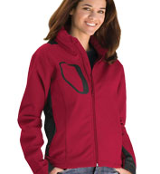 Custom Womens Whistler Bi-color Softshell Jacket