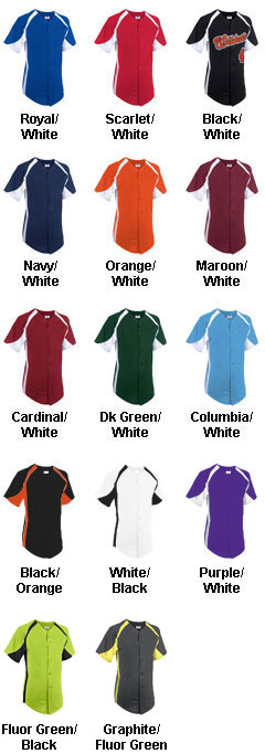 Adult Clutch Full Button Baseball Jersey - All Colors