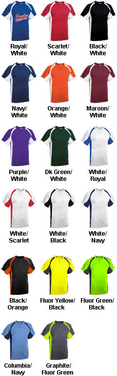 Adult Line Drive 2-Button Jersey - All Colors