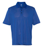 Custom Adidas Mens Climalite® Pencil Stripe Pique Polo