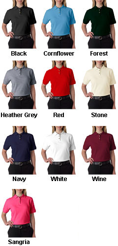 100% Cotton Pique Ladies Sportshirt - All Colors