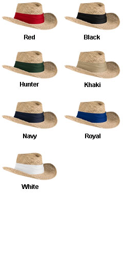 Gambler Style Straw Hat - All Colors