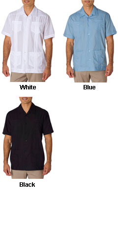 Mens Traditional Guayabera Shirt - All Colors