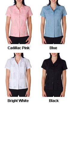 Cubavera Ladies Traditional Guayabera Shirt - All Colors